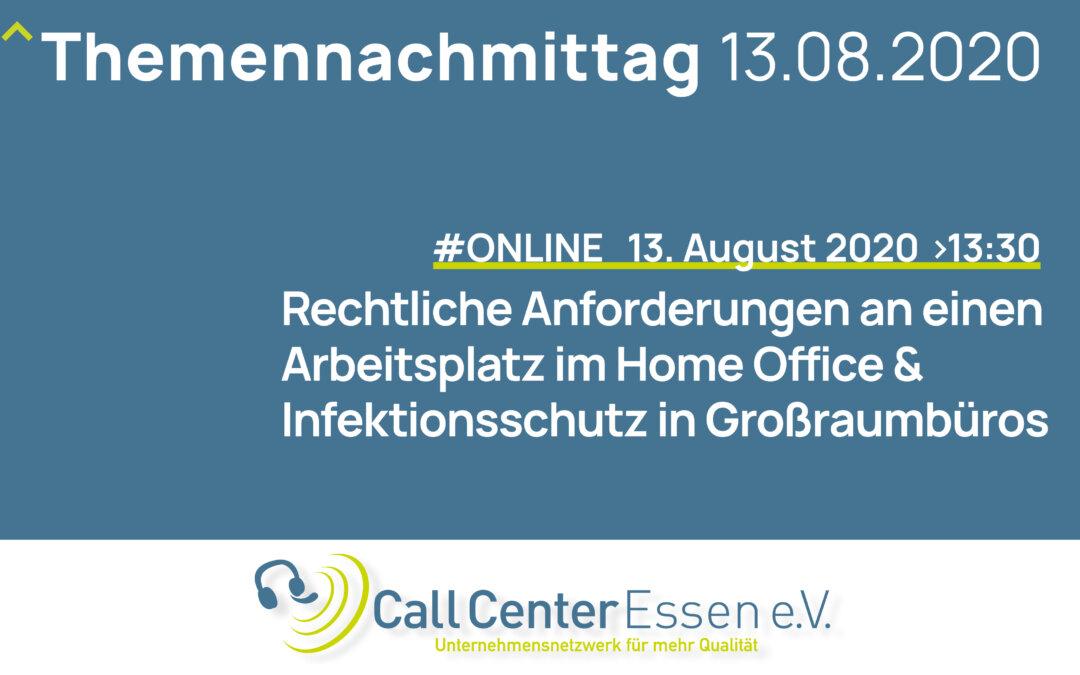 """Erfolgreiche Online-Konferenz """"Rechtliche Anforderungen an einen Arbeitsplatz im Home Office und Infektionsschutz in Großraumbüros"""""""